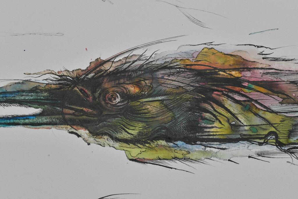 Vue de l'exposiiton Anton Tchékhov, mise en peinture à la galerie Boris Paris (17)