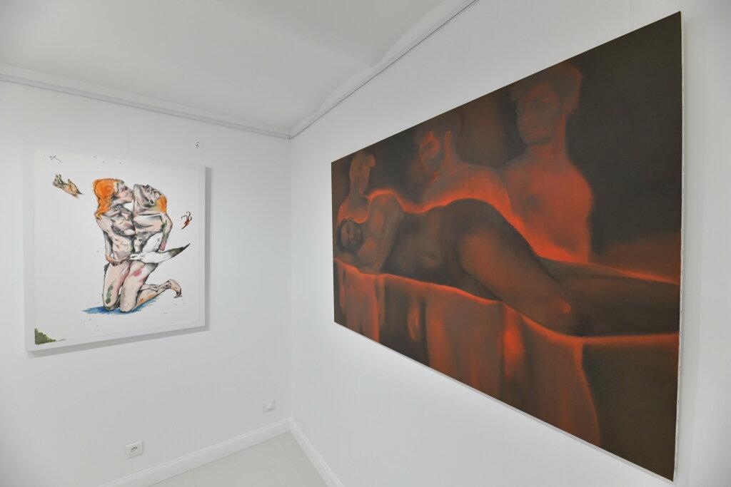 Vue de l'exposiiton Anton Tchékhov, mise en peinture à la galerie Boris Paris (19)