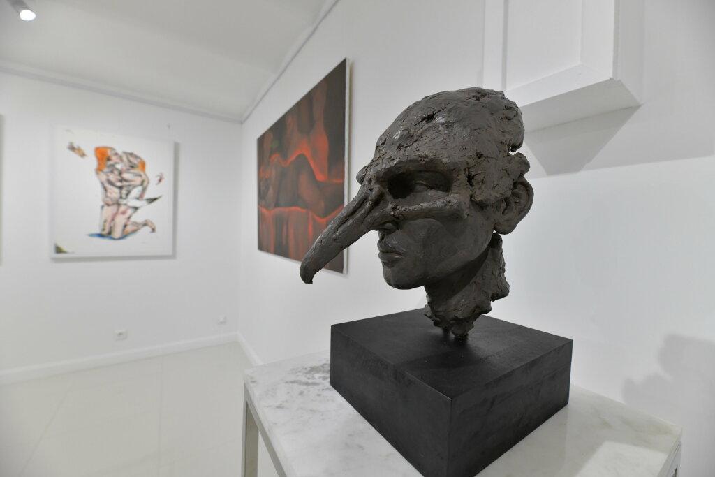 Vue de l'exposiiton Anton Tchékhov, mise en peinture à la galerie Boris Paris (20)