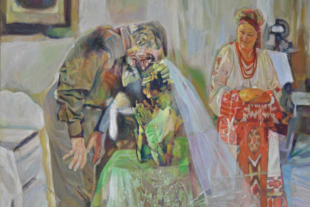 Vue de l'exposiiton Anton Tchékhov, mise en peinture à la galerie Boris Paris (5)