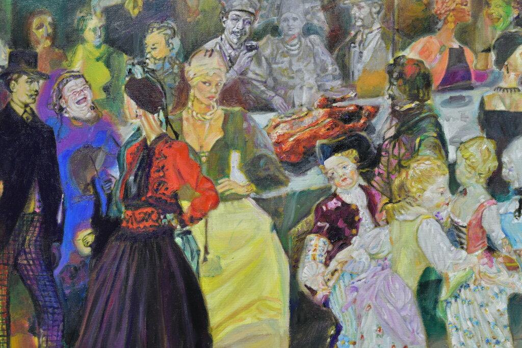 Vue de l'exposiiton Anton Tchékhov, mise en peinture à la galerie Boris Paris (6)