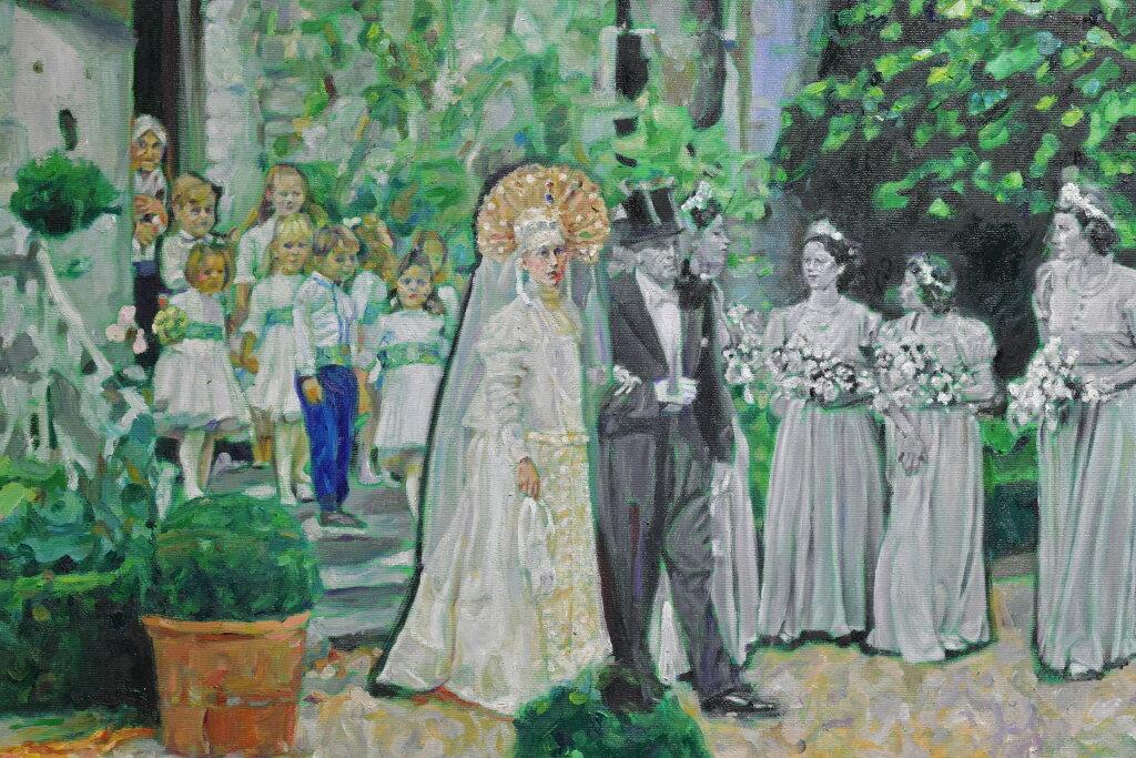 Vue de l'exposiiton Anton Tchékhov, mise en peinture à la galerie Boris Paris (7)