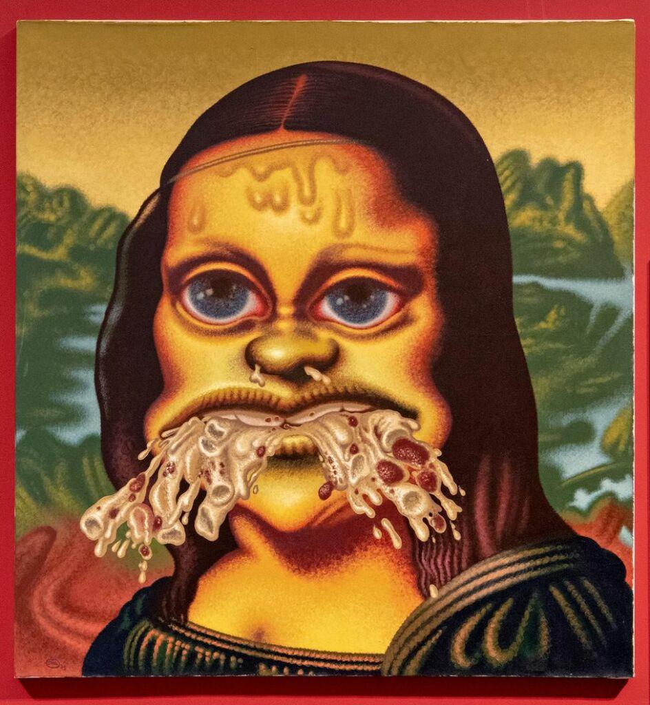 «Mona Lisa Throws Up Macaroni» (1995) de Peter Saul