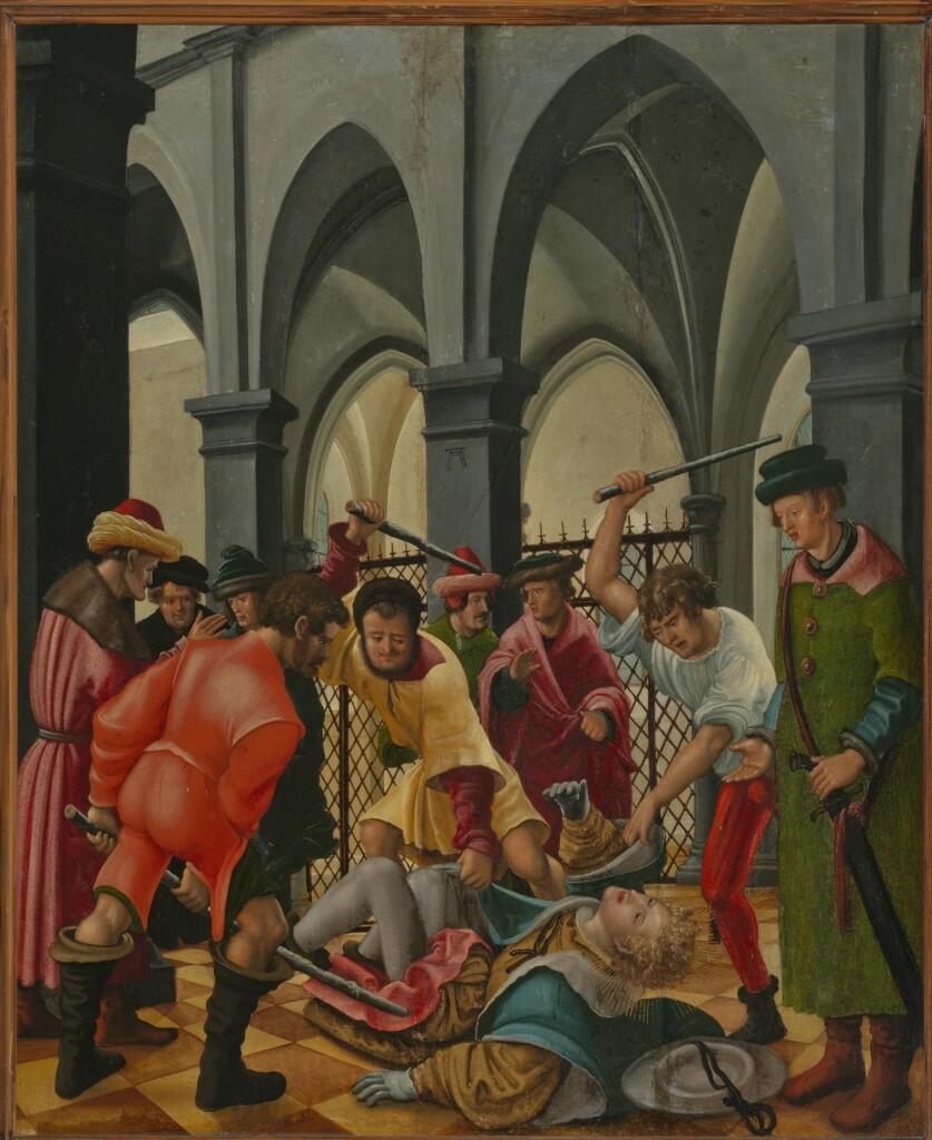 Albrecht Altdorfer, Saint Florian roué de coups