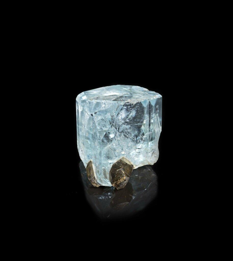 Topaze bleue, gemme quartz morion