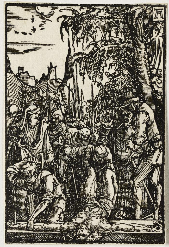 Albrecht Altdorfer, Christ cloué sur la croix