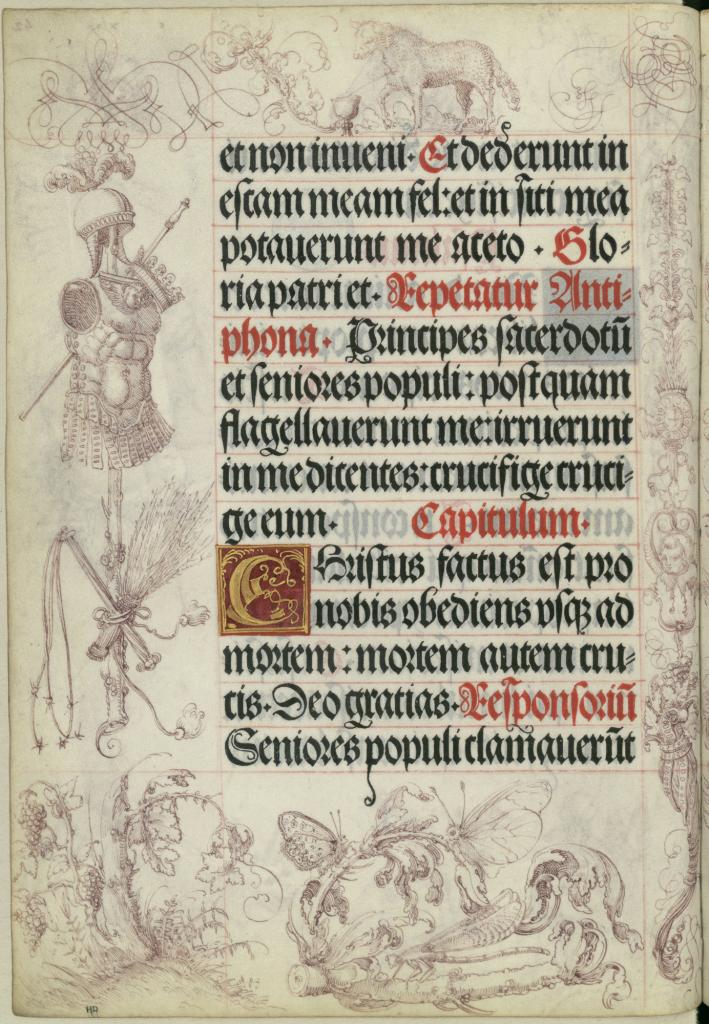 Albrecht Altdorfer, Dessins ornant les marges du Livre de prières de l'empereur Maximilien Ier