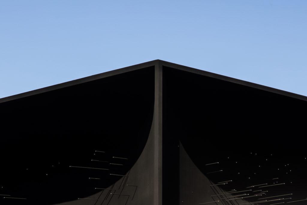 Asif Khan, Hyundai Pavilion avec Vantablack aux Jeux olympiques d'hiver de Pyeongchang.