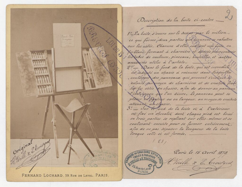 Boîte de campagne pour artiste peintre par Vieille et Troisgros