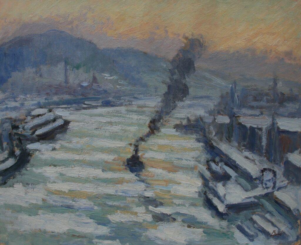 Glaçons sur la Seine, 1931