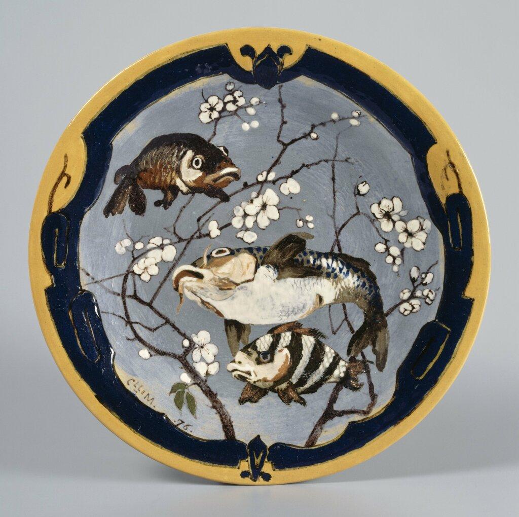 Camille Moreau-Nélaton, Plat aux poissons, Limoges, musée national Adrien Dubouché