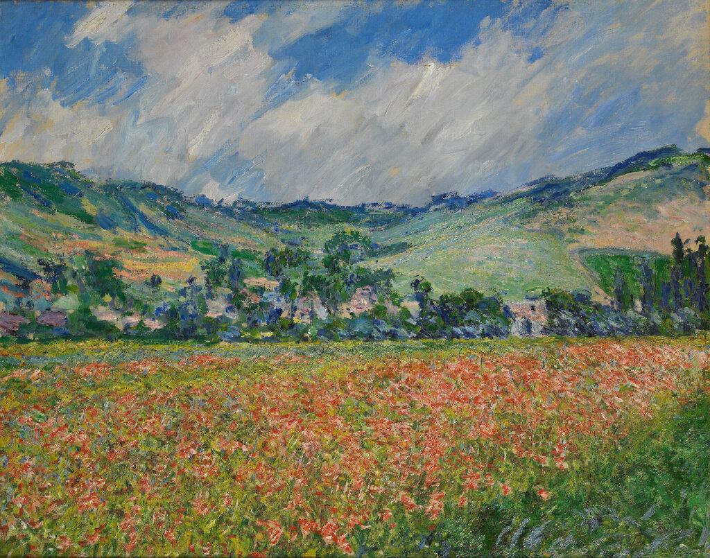 Claude Monet, Champ de coquelicots, environ de Giverny, 1885, Huile sur toile