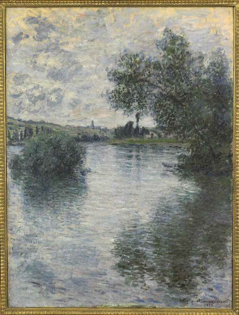 Claude MONET, La Seine à Vétheuil (détail)