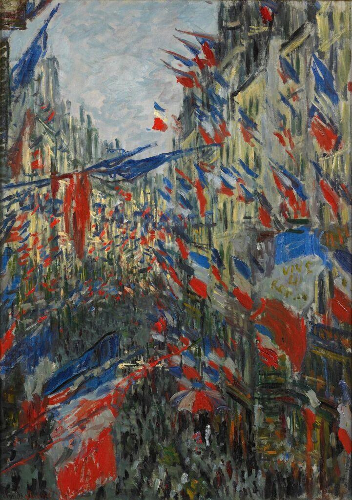 Claude Monet, Rue Saint-Denis, fête du 30 juin 1878, 1878, Huile sur toile