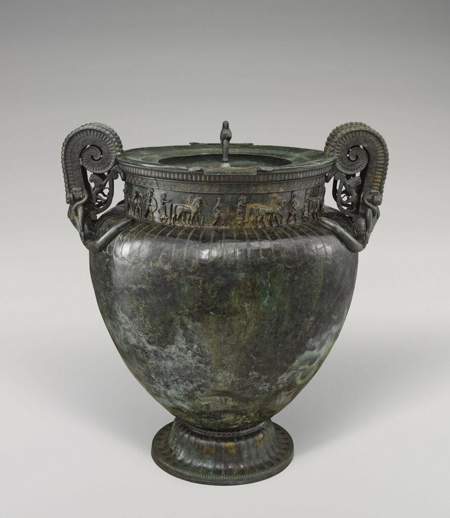 Cratère de Vix, VIe siècle av. J.-C., Musée du Pays Châtillonais - Trésor de Vix, Châtillon-sur-Seine, Côte-d'or - Boire avec les Dieux - Cité du Vin