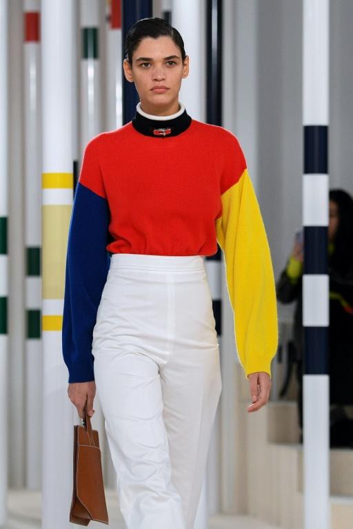 Défilé Hermès à Paris, le 29 février 2020