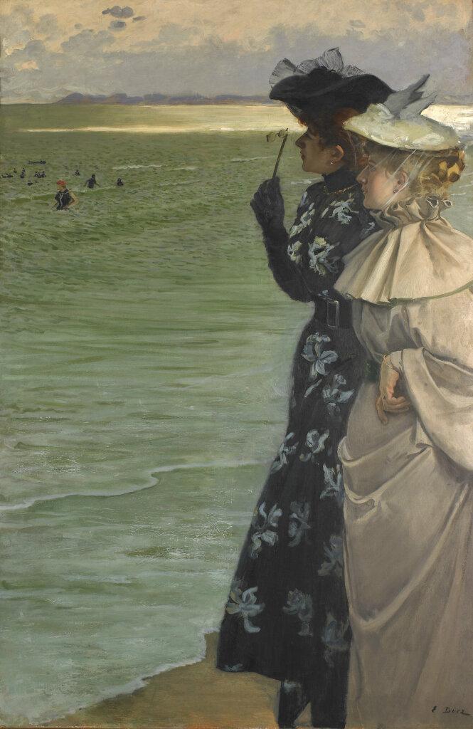 Ernest Ange Duez, L'heure du bain au bord de la mer, 1896