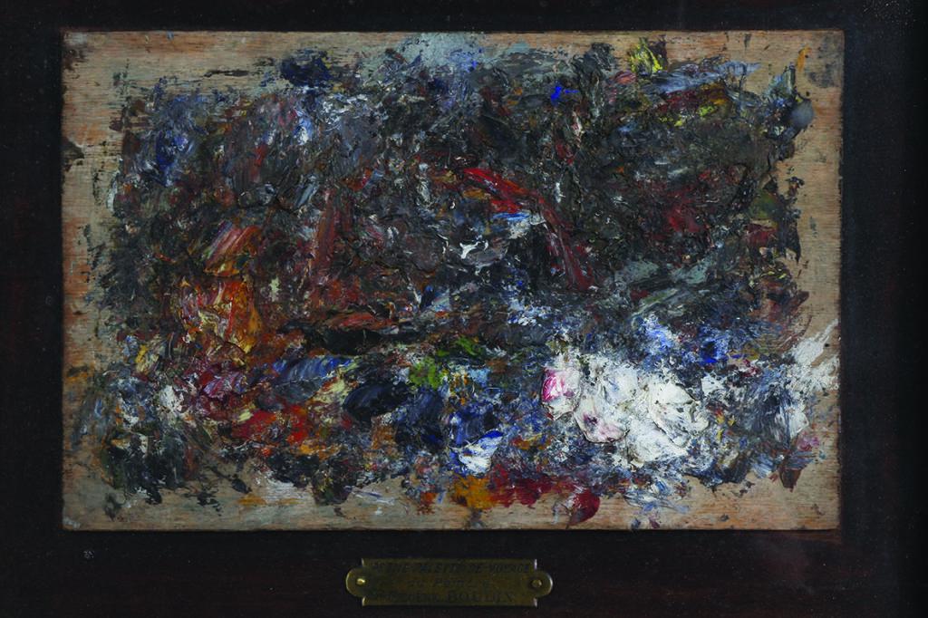 Eugène Boudin, Palette de voyage du peintre © MuMa Le Havre, Charles Maslard
