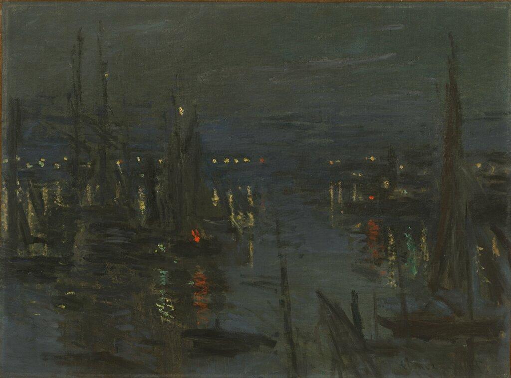 Expo Nuits électriques MUMA - Claude Monet, Le Port du Havre, effet de nuit, 1873
