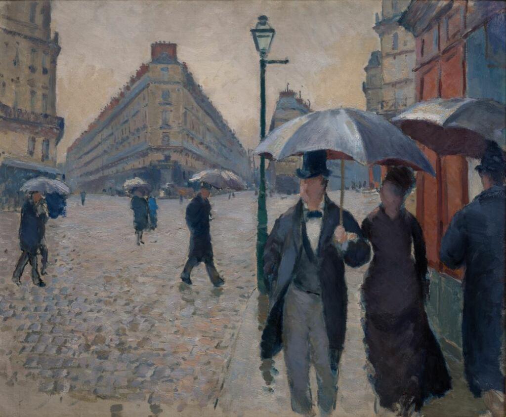 Expo Nuits électriques MUMA - Gustave Caillebotte, Rue de Paris, temps de pluie, 1877