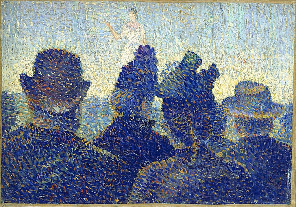 Expo Nuits électriques MUMA - Louis Hayet, La Parade, 1888