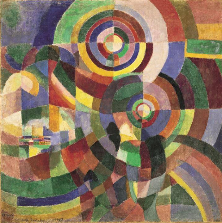 Expo Nuits électriques MUMA - Sonia Delaunay, Prismes électriques, 1914
