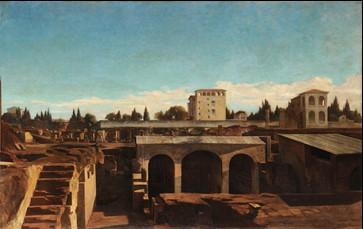 Joseph Fortuné Layraud, Ruines du mont Palatin. Vue des fouilles de la maison de Livie