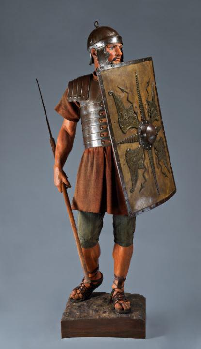 Auguste Bartholdi, Reconstitution de légionnaire romain