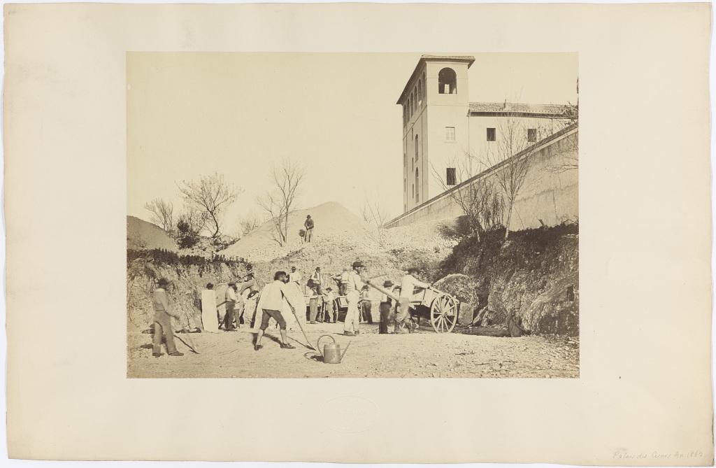 Pietro Dovizielli, Equipe de fouilles en action