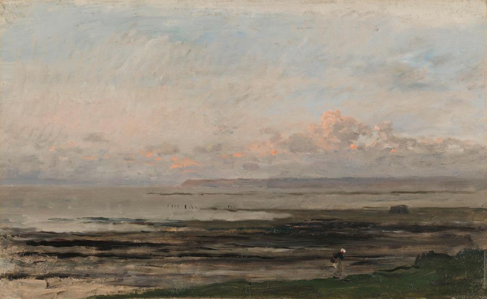 Charles-François Daubigny, Plage à marée basse, 1867