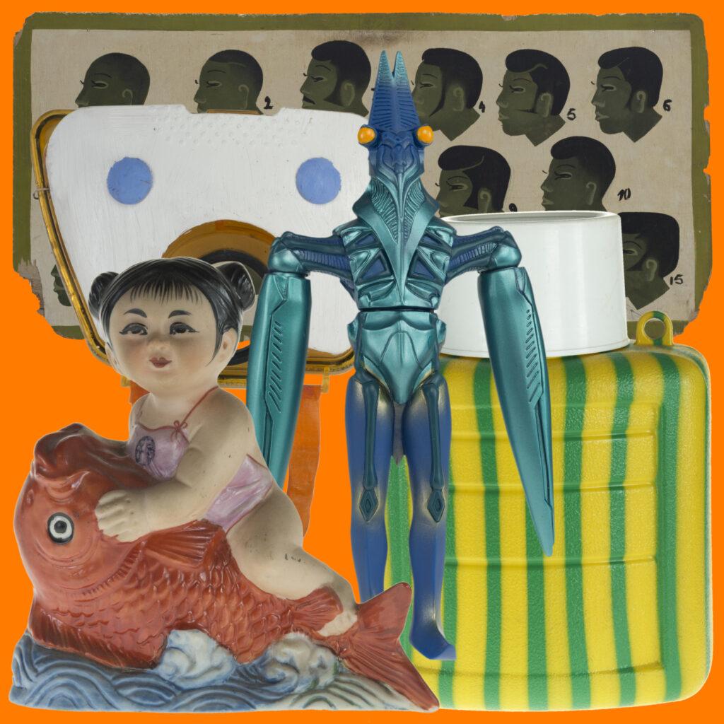 Exposition les curiosités du monde de Françoise Huguier au musée du Quai Branly-Photomontage de Camille de Noray - Françoise Huguier - Quai Branly