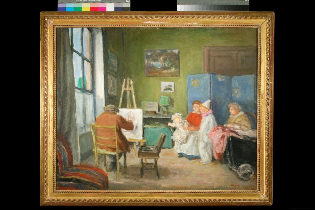 Exposition Musée de Vernon - Albert André, Renoir peignant en famille
