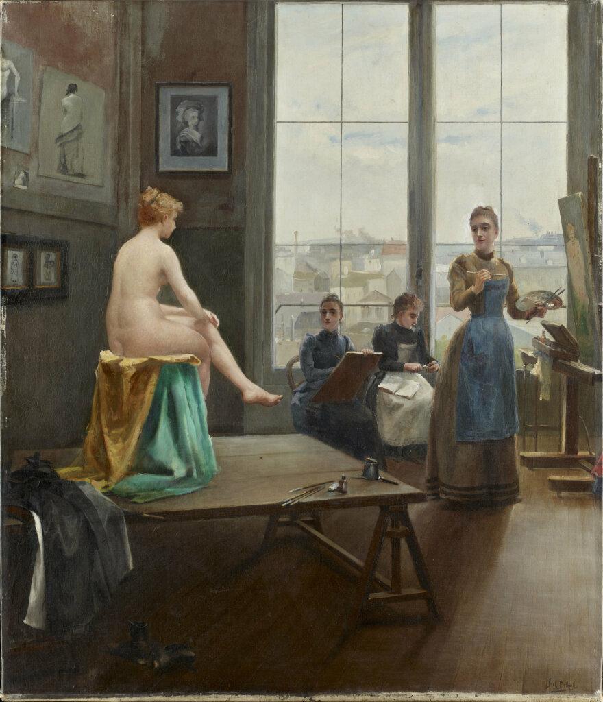 Exposition Musée de Vernon, Paul Duthoit, Atelier de jeunes filles