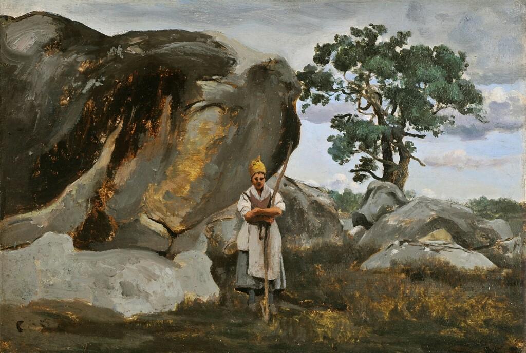 Exposition Musée des Impressionnismes - Corot, Paysanne en forêt de Fontainebleau