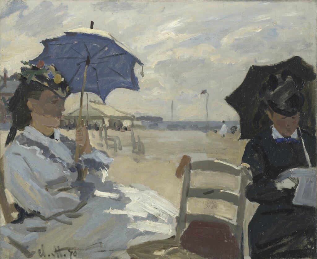 Exposition Musée des Impressionnismes - Monet, La plage à Trouville