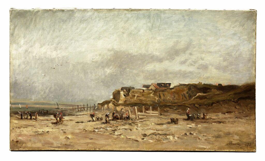 Exposition Musée Eugène Boudin - Charles François Daubigny, La plage de Dieppe