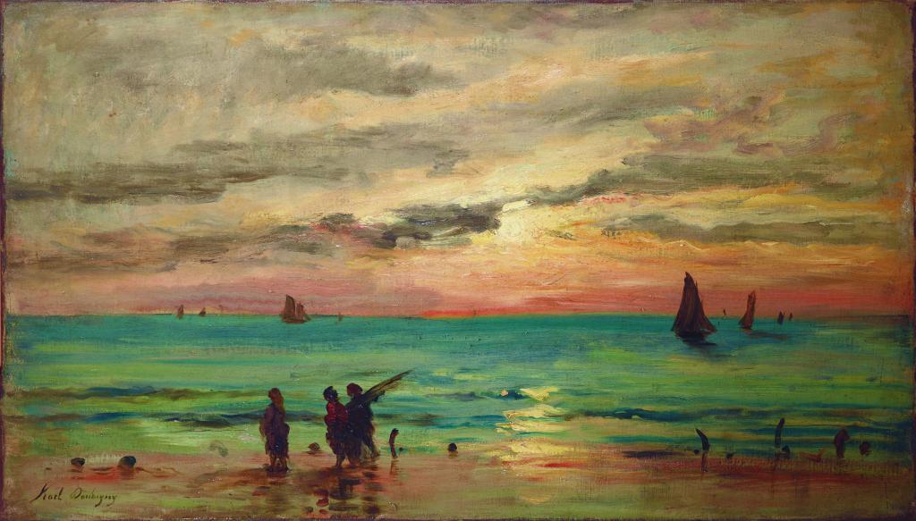 Exposition Musée Eugène Boudin - Karl Daubigny, coucher de soleil au bord de mer