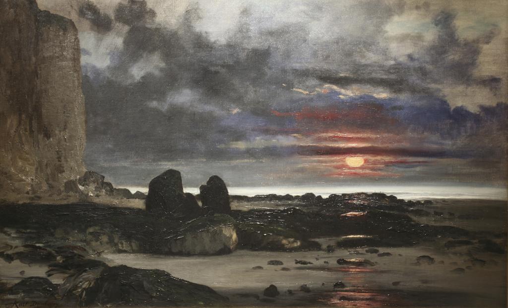 Exposition Musée Eugène Boudin - Karl Daubigny, Falaises au soleil couchant