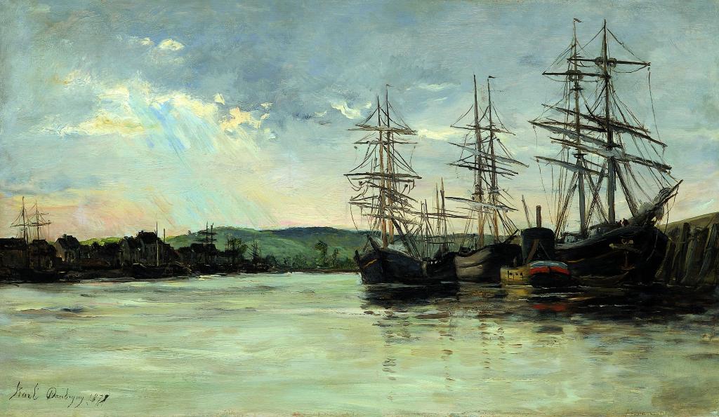 Exposition Musée Eugène Boudin - Karl DAUBIGNY, Voiliers sur l'estuaire
