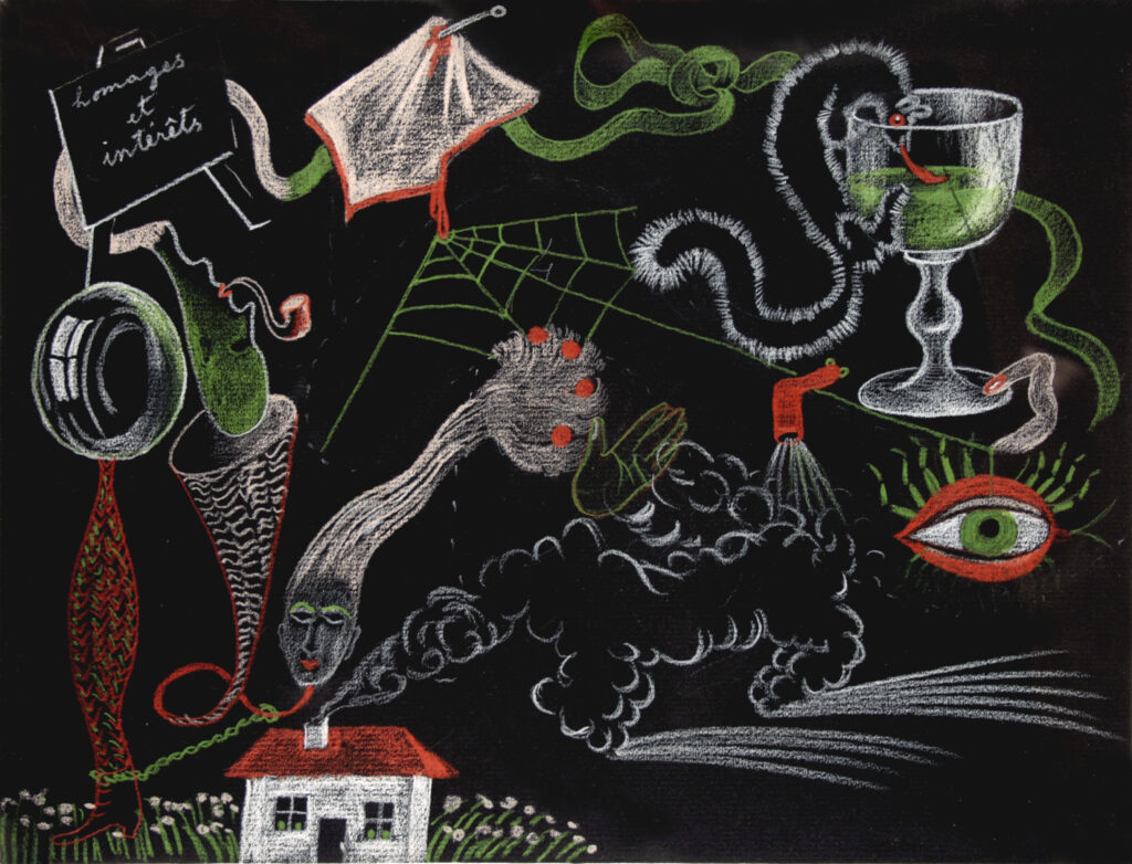 André Breton, Valentine Hugo, Greta Tzara Knutson et Tristan Tzara, Cadavres exquis