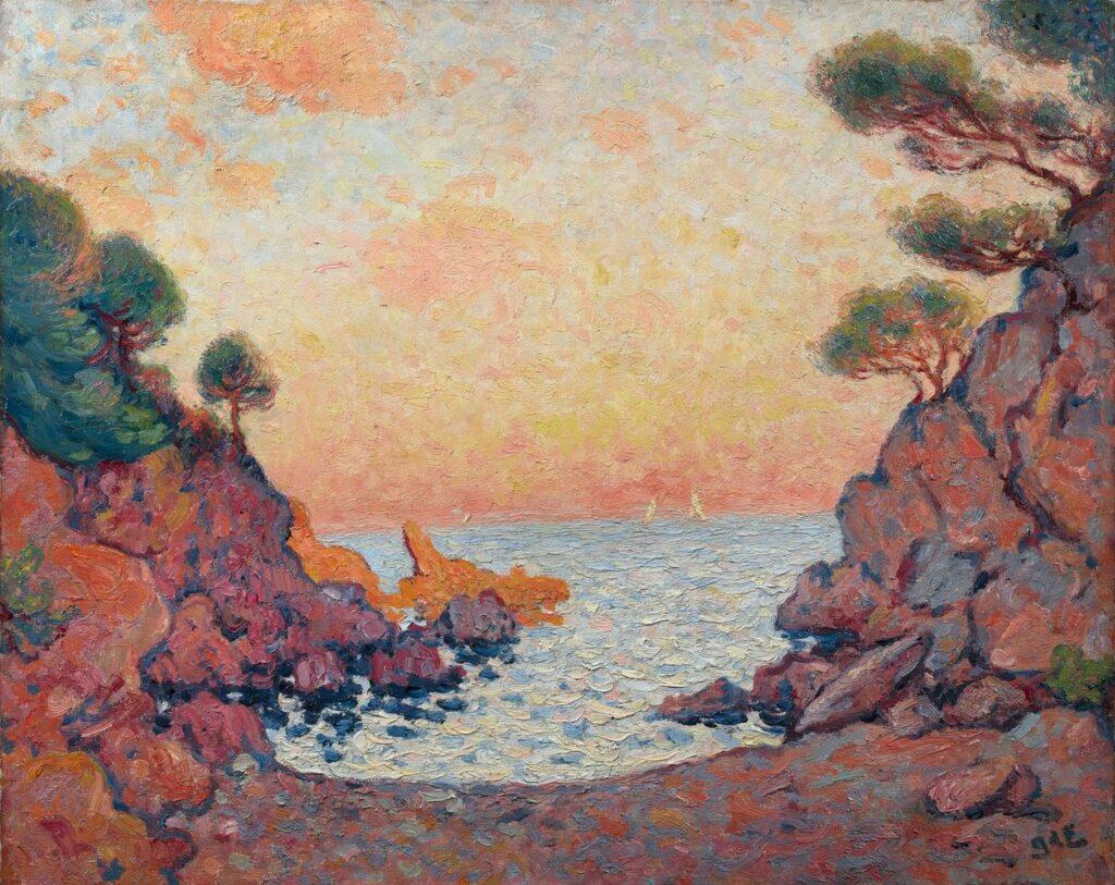 Georges d'Espagnat, Crique au Lavandou, 1899