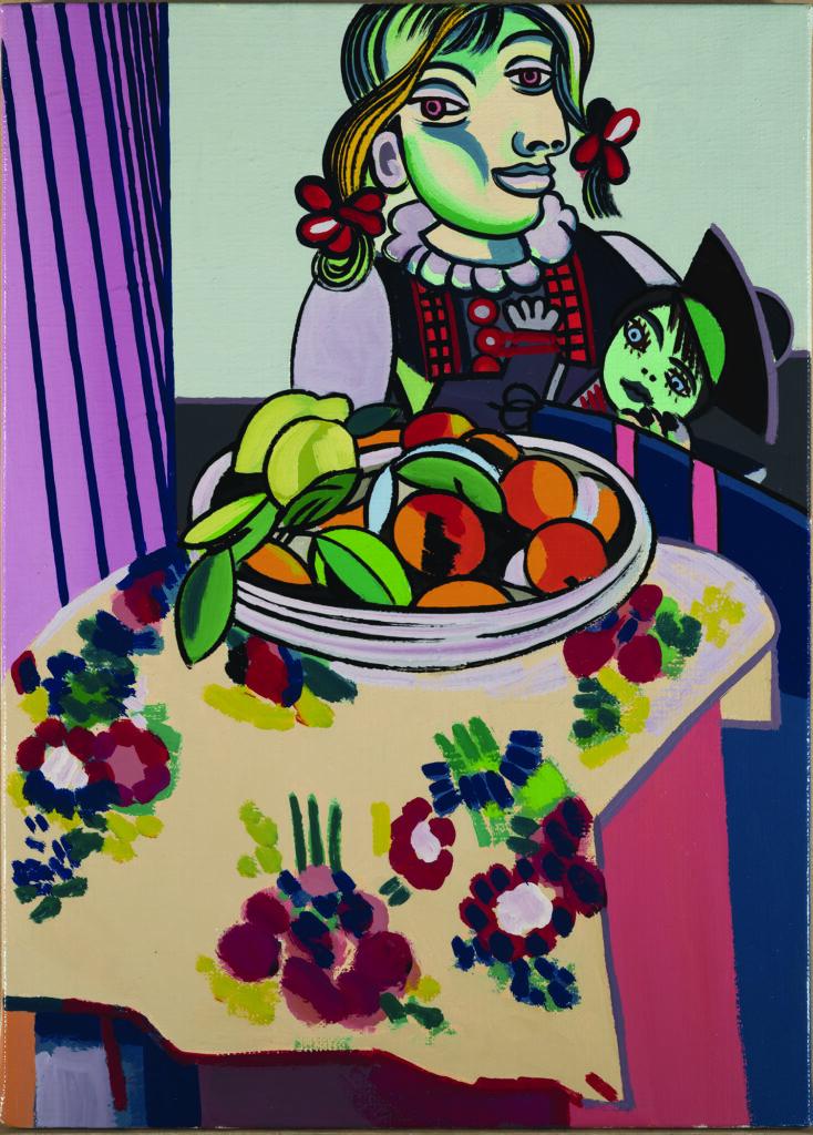 Erró, Erro-Picasso-Matisse (Nature morte aux oranges), 1985