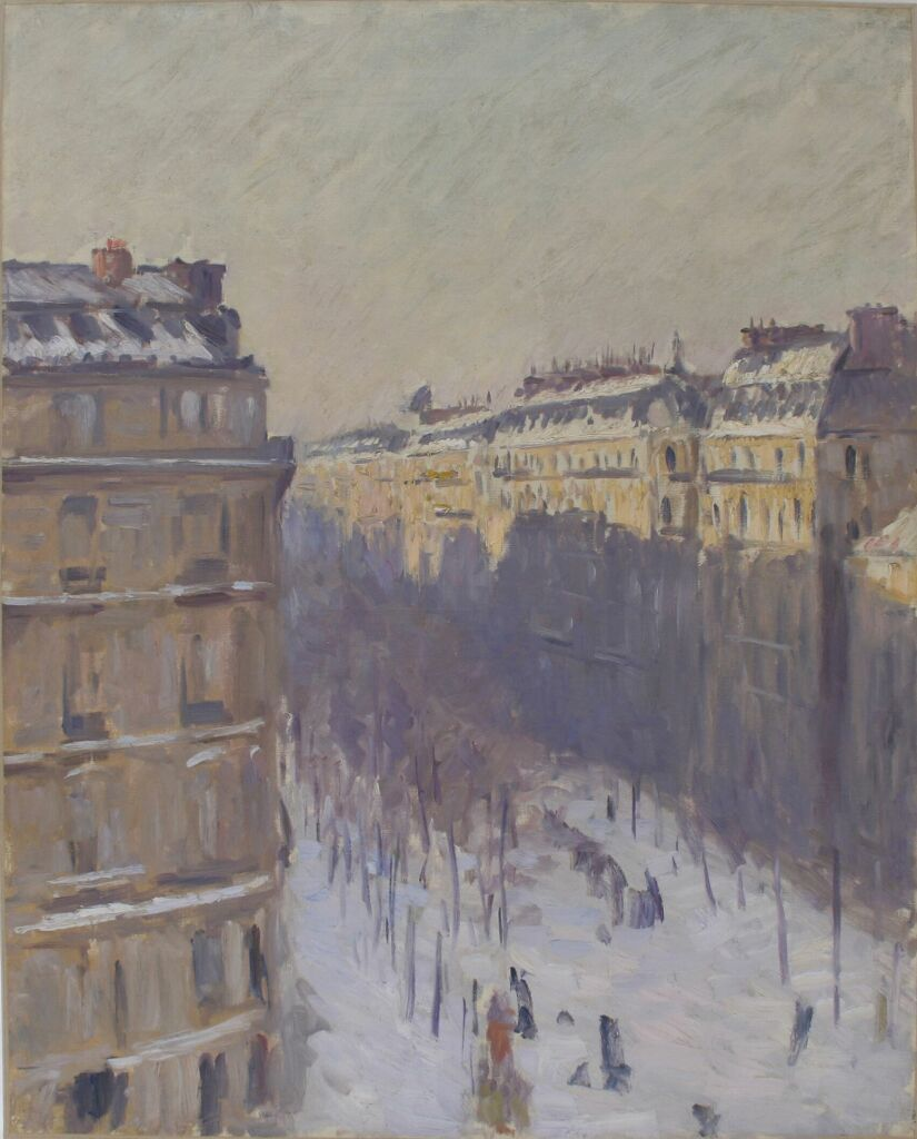 Gustave Caillebotte, Boulevard Haussmann, effet de neige, entre 1879 et 1881.