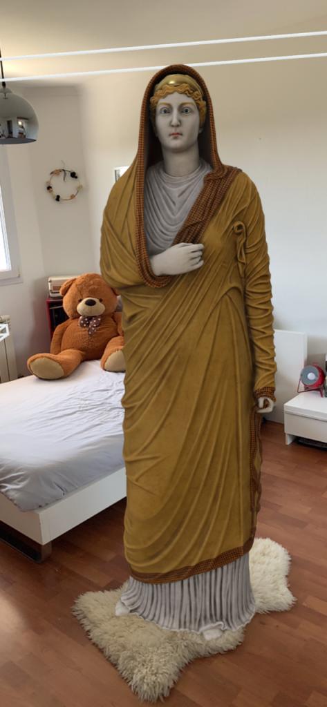 Statue de la Livie en réalité augmentée