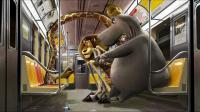 Madagascar Concept art (25 ans DreamWorks Animation Art ludique)