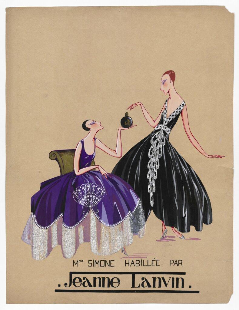 Marguerite Porracchia, Mme Simone habillée par Jeanne Lanvin, 1920-1922