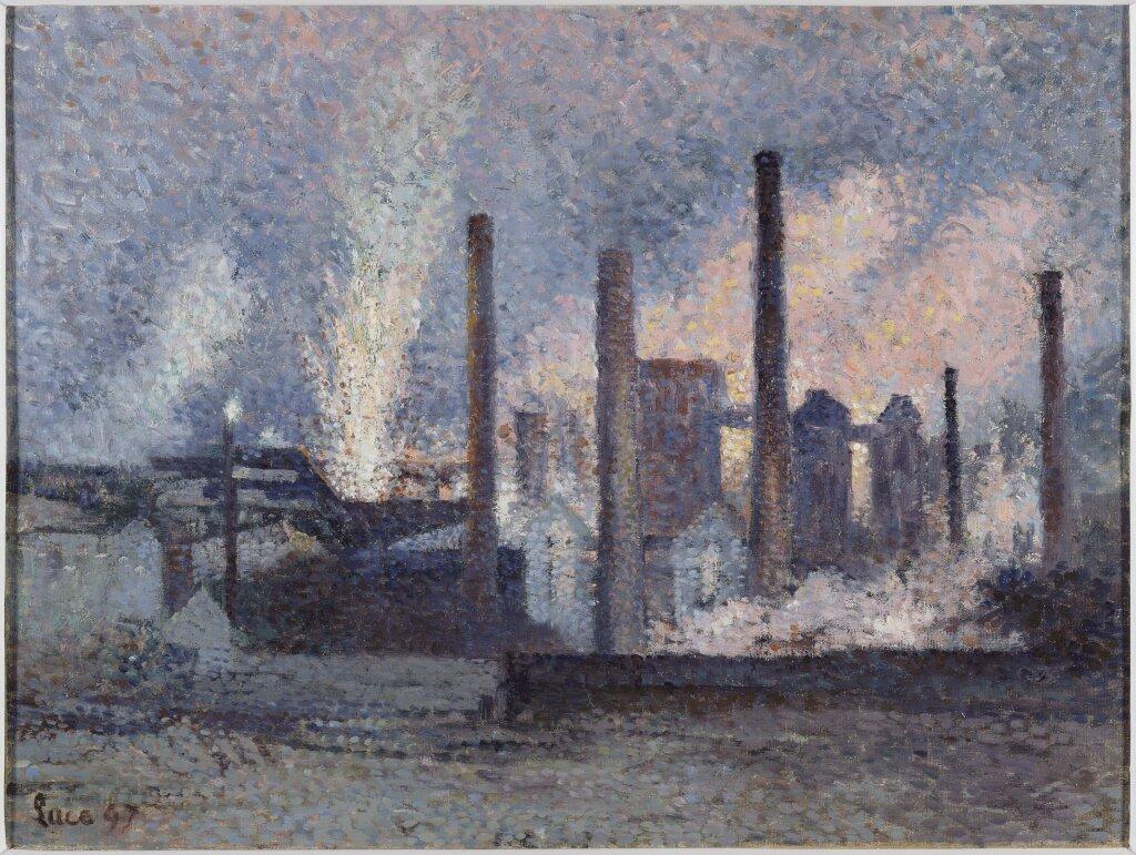 Maximilien LUCE, Aciéries près de Charleroi, 1897