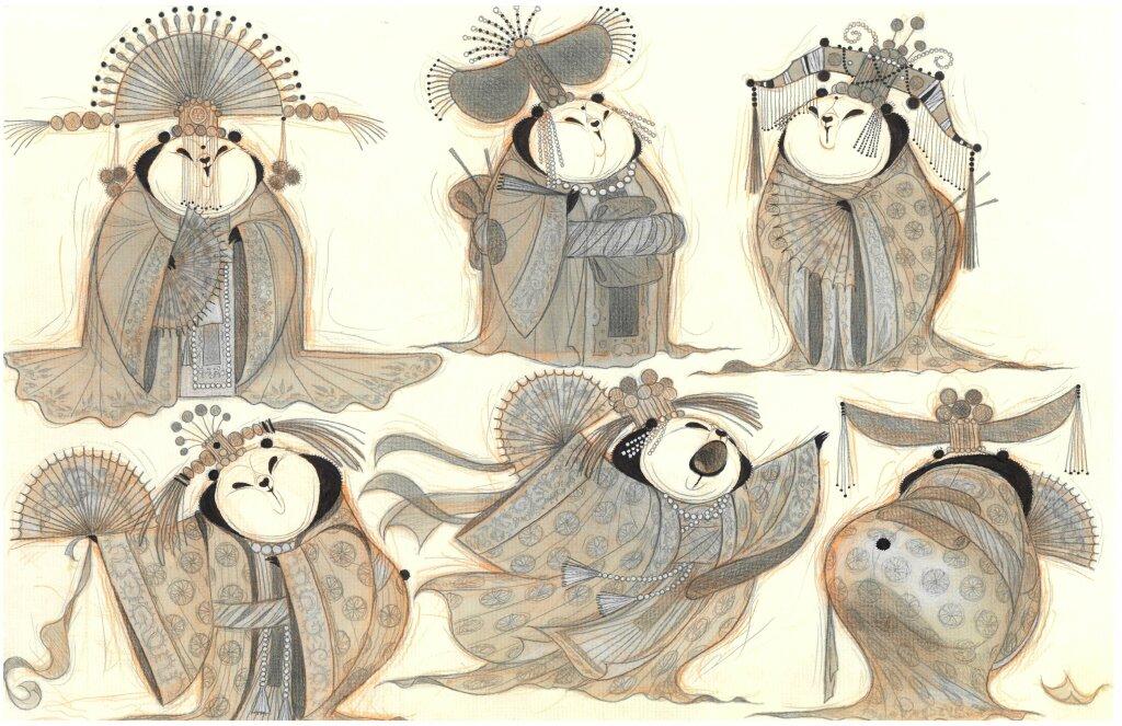 "Nico Marlet, dessin original de ""Kung Fu Panda"""