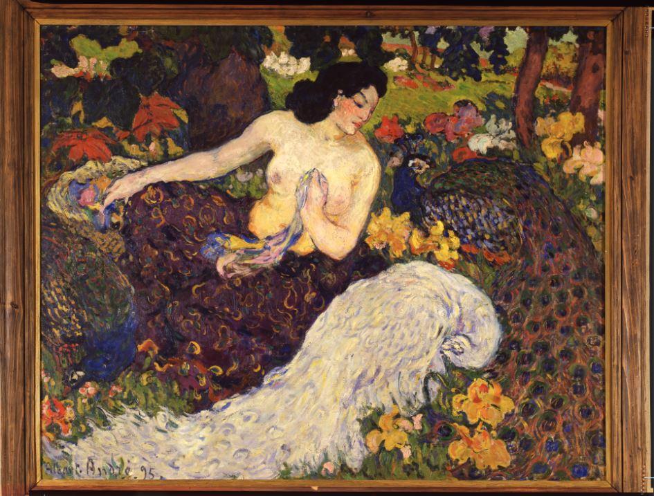 Albert andré, La Femme aux paons, 1895