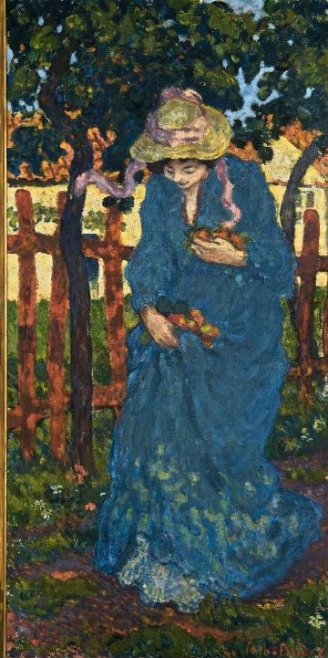 Albert andré, La Femme en bleu, 1895